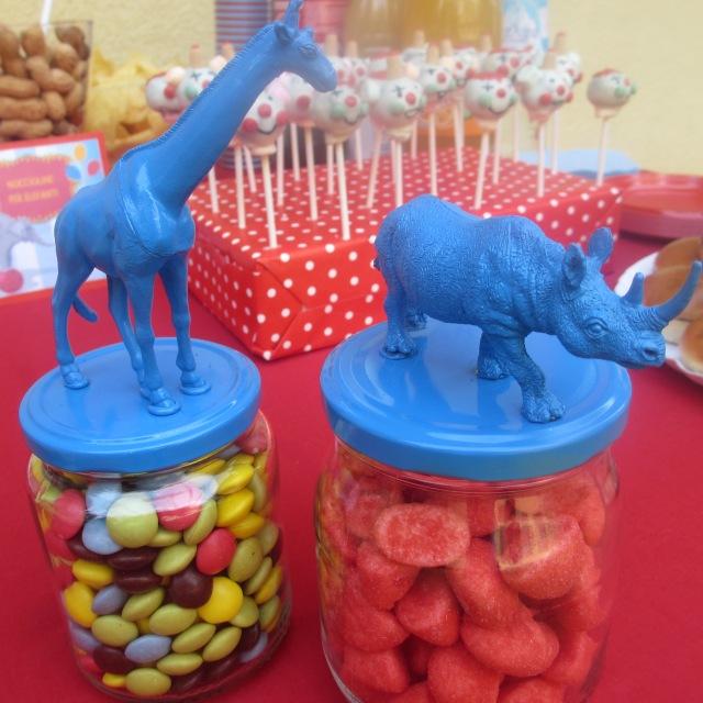 Barattoli porta-caramelle per la festa circense