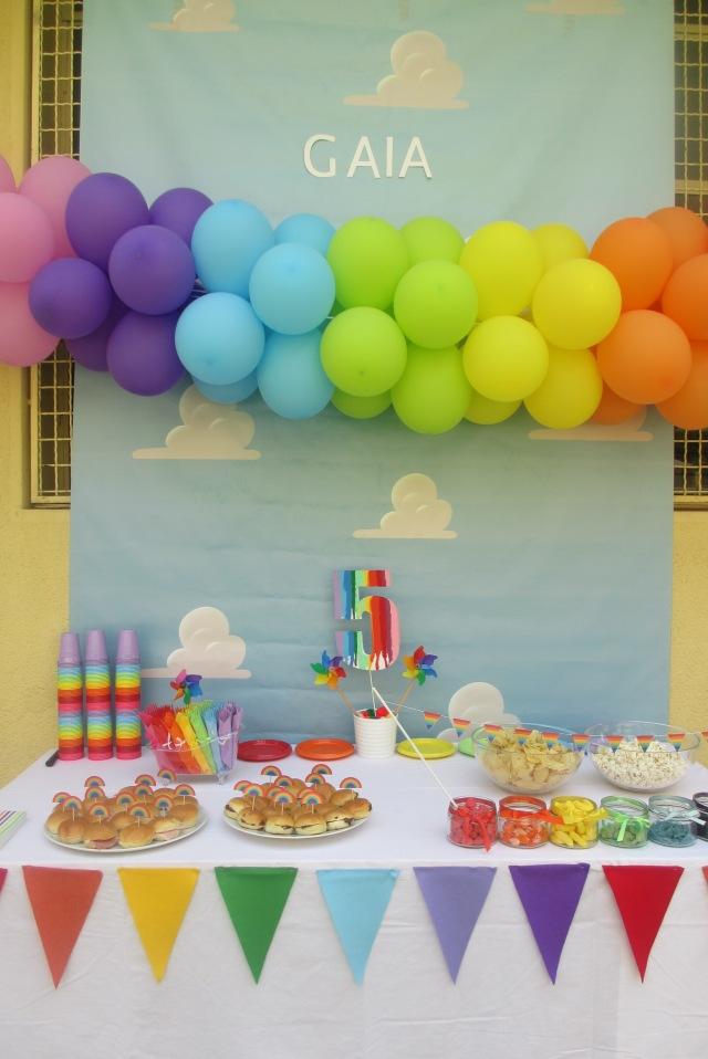 Rainbow party per Gaia